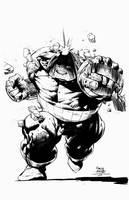 Juggernaught - David Finch - TBS Inks by TijuanaBibleScholar