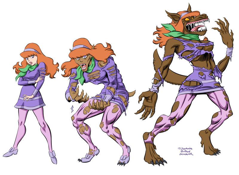 Daphne Werewolf Tranformation by TijuanaBibleScholar