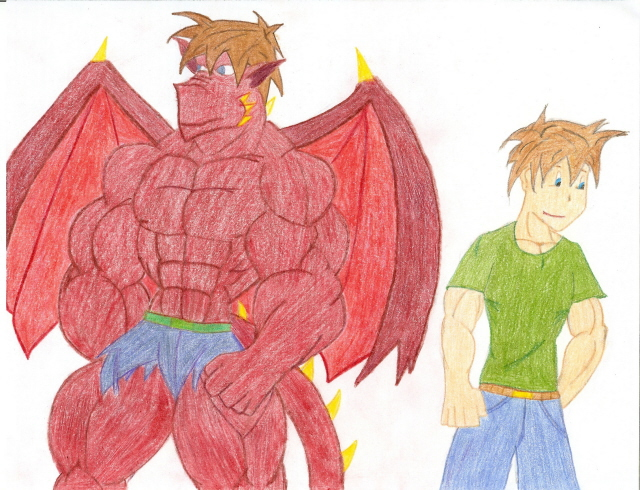 My Dragon and Human form color by DaCheat2468