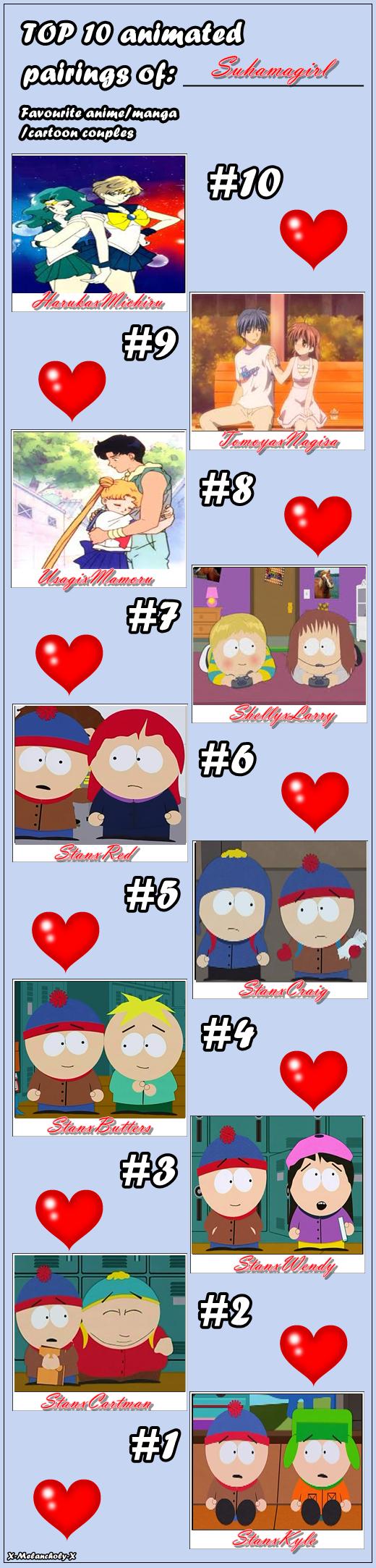 Meme   Top 10 Couples By X Melancholy X-d3e1l2 by Suhamagirl