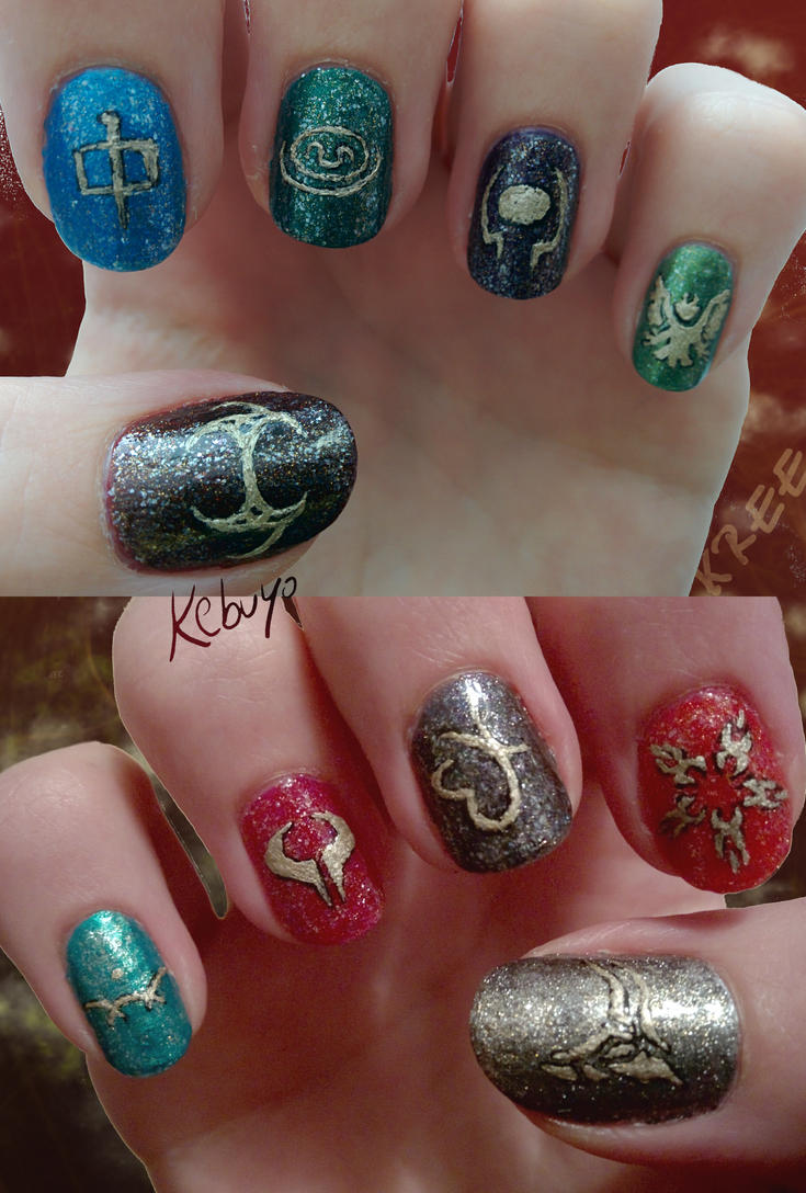 Stargate Nail Art: System Lords by Kebuyo on DeviantArt