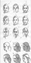 Female facial light study