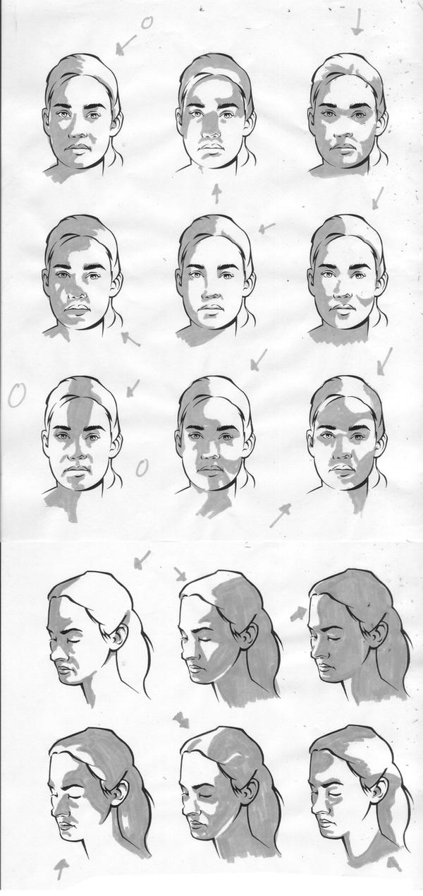 female facial light study by charliekirchoff on deviantart