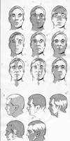 Male facial light study