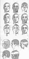 Male facial light study by CharlieKirchoff