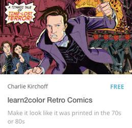 learn2color Retro Comics