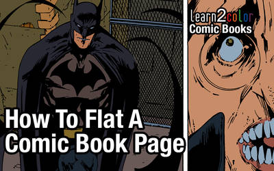 How to Flat a Comic Book Page (YouTube Link)