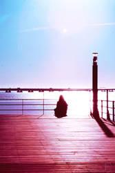 Pier Meditating
