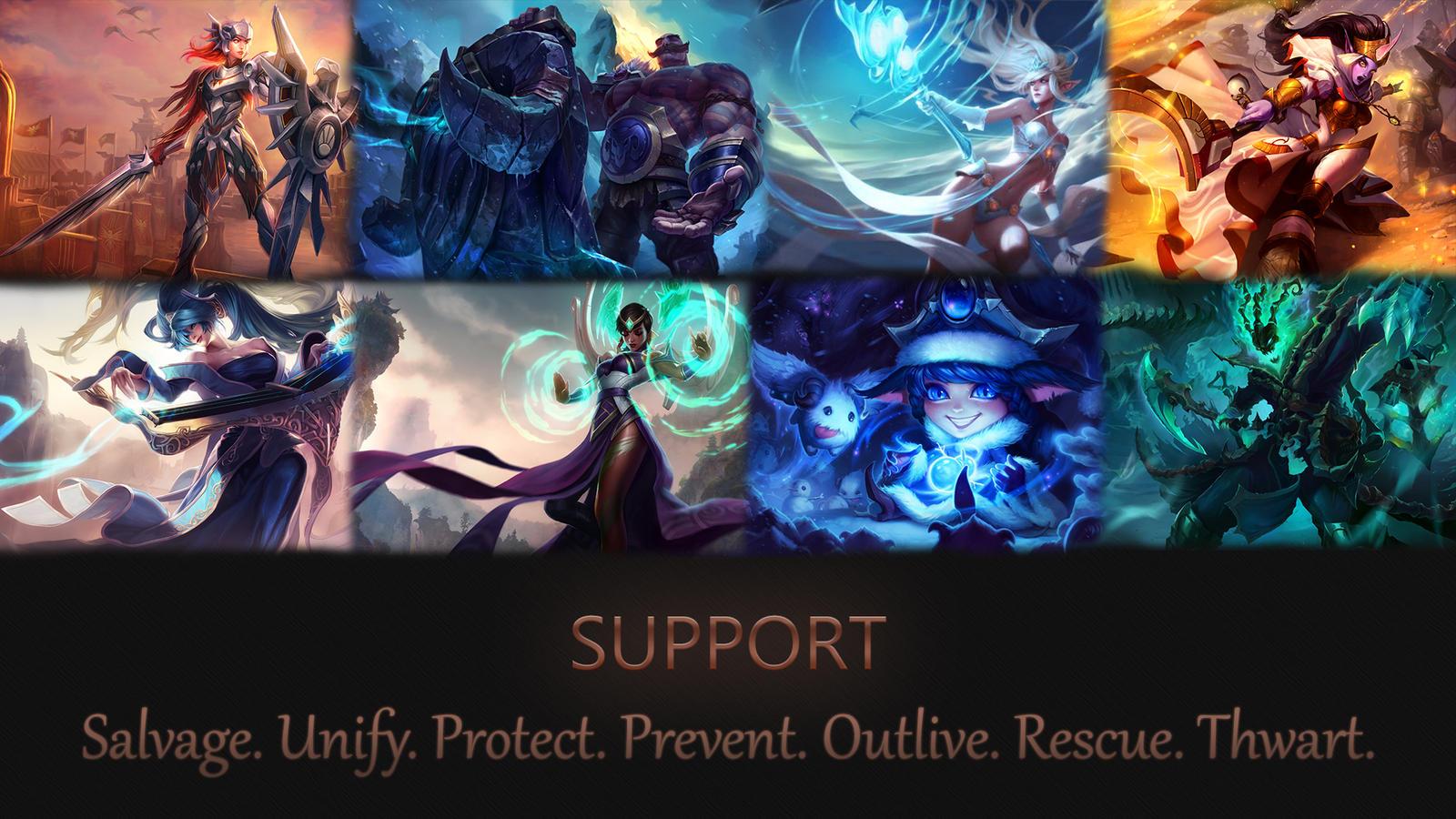 Support Wallpaper League Of Legends By Grv Mrdudu On Deviantart