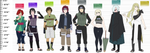 Main Naruto OCs: Height Chart by anniberri