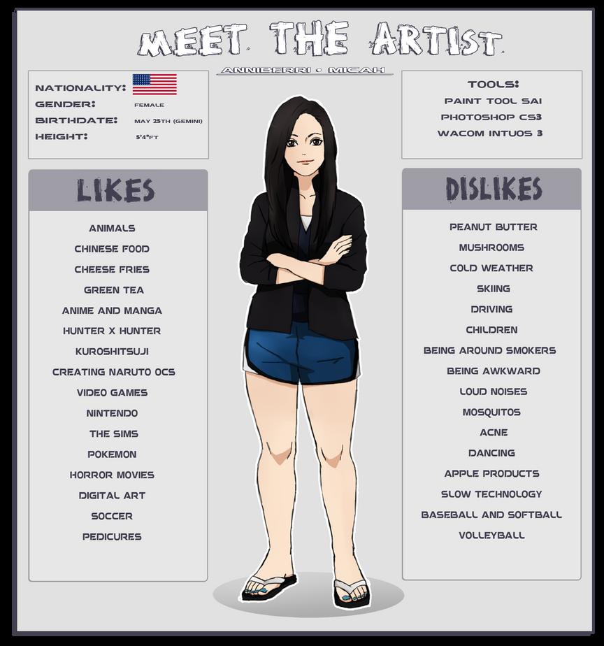 Meet the Artist by anniberri