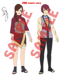 Random Naruto Girl Adoptables -CLOSED- by anniberri