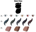 Odori Clan Color Sheet by anniberri