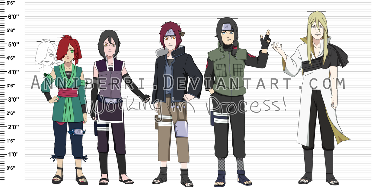 Anime Characters 153 Cm : Wip naruto oc height chart by anniberri on deviantart