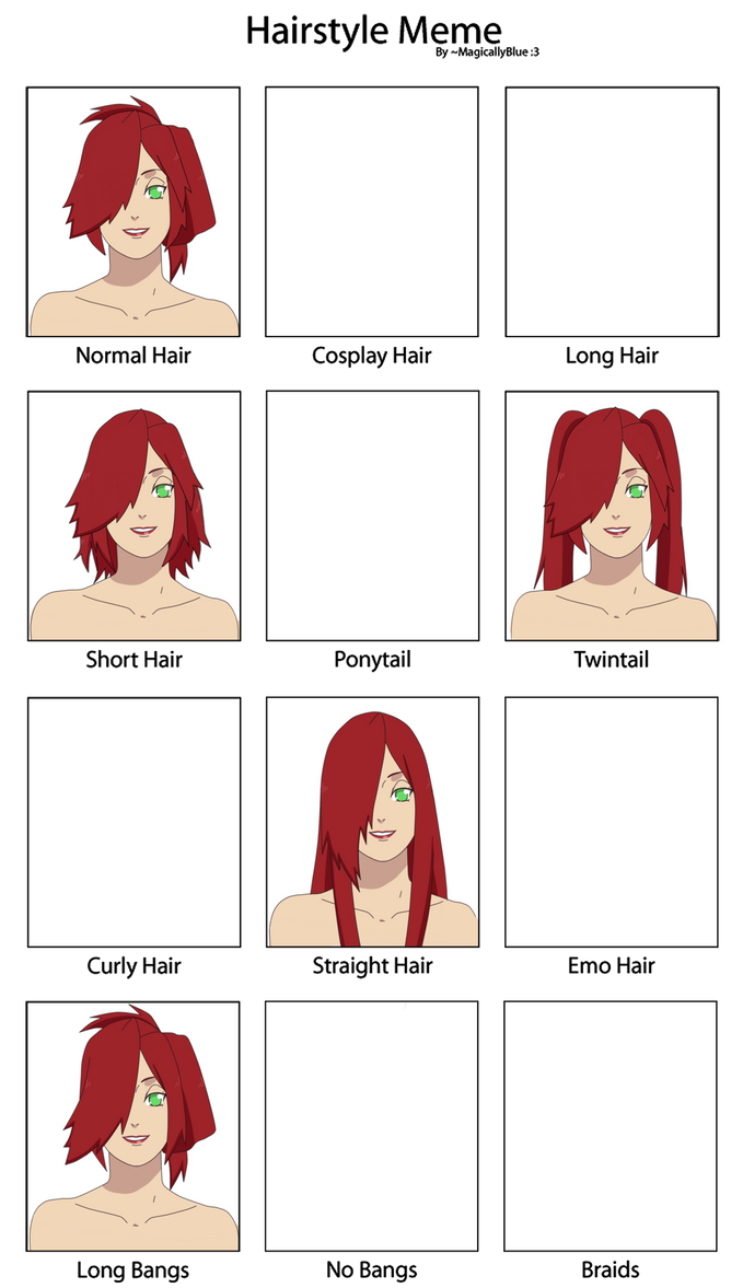 -UNFINISHED- Akina Hairstyle Meme by anniberri