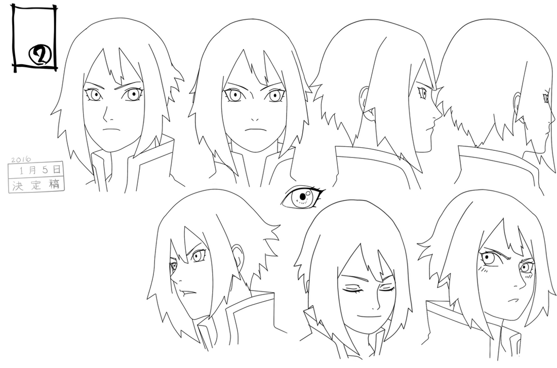 Michiko Expression Sheet by anniberri