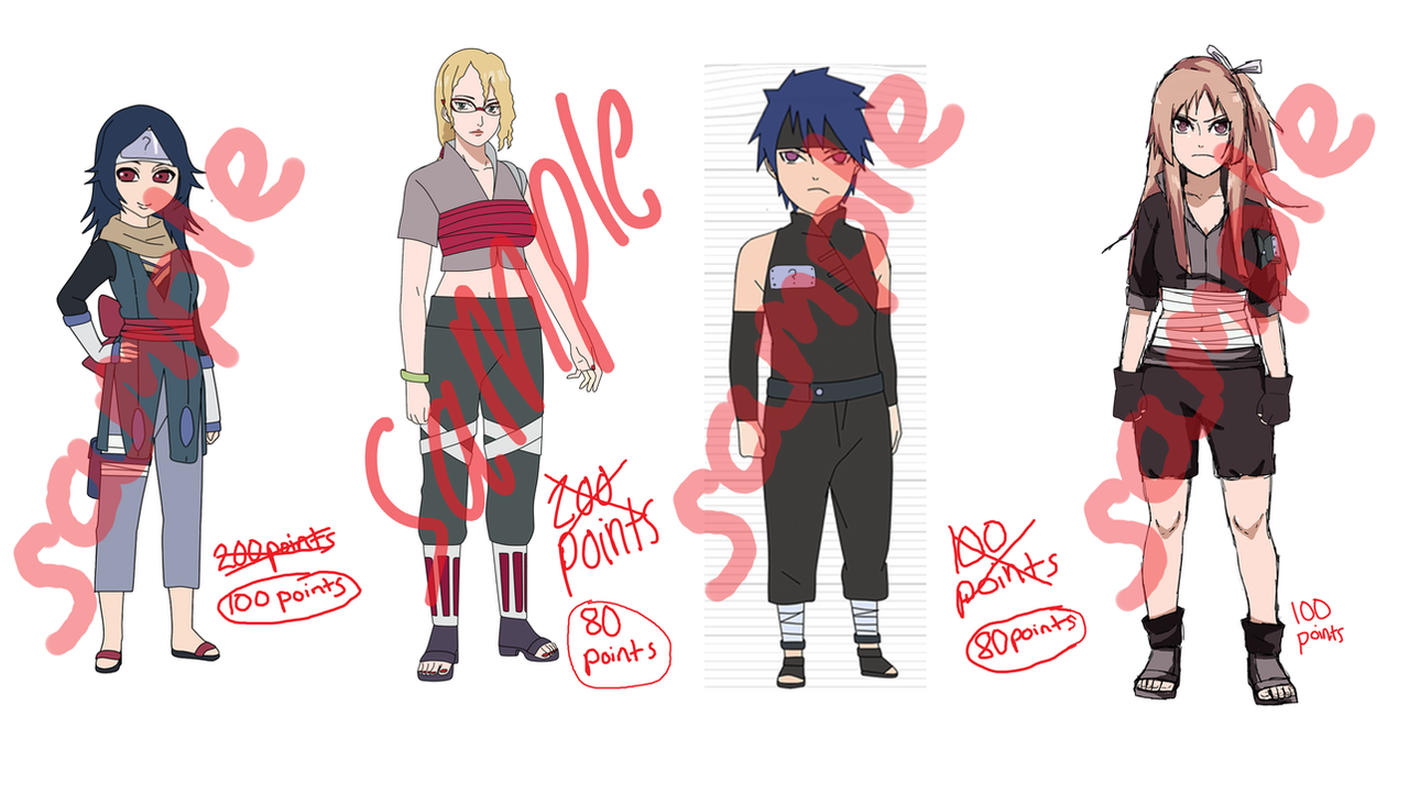 Naruto Adoptable Clearance -CLOSED- by anniberri