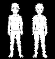 -F2U- Male Semi Chibi Base by anniberri