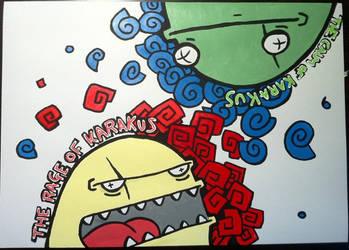 The rage and calm of karakus (skateboard design) by PIGGHAMMER