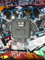my first graffiti piece by PIGGHAMMER
