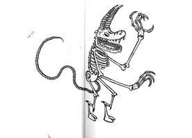 Monster skeleton (sketch) by PIGGHAMMER
