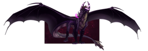 Spyro Mirror Verse -Dark Spyro(Initial Appearance) by Desrosaur