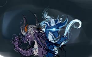 Light and Dark, Ying and Yang by Desrosaur