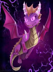 Spyro Mirrorverse Dark Mirror Spyro by Desrosaur