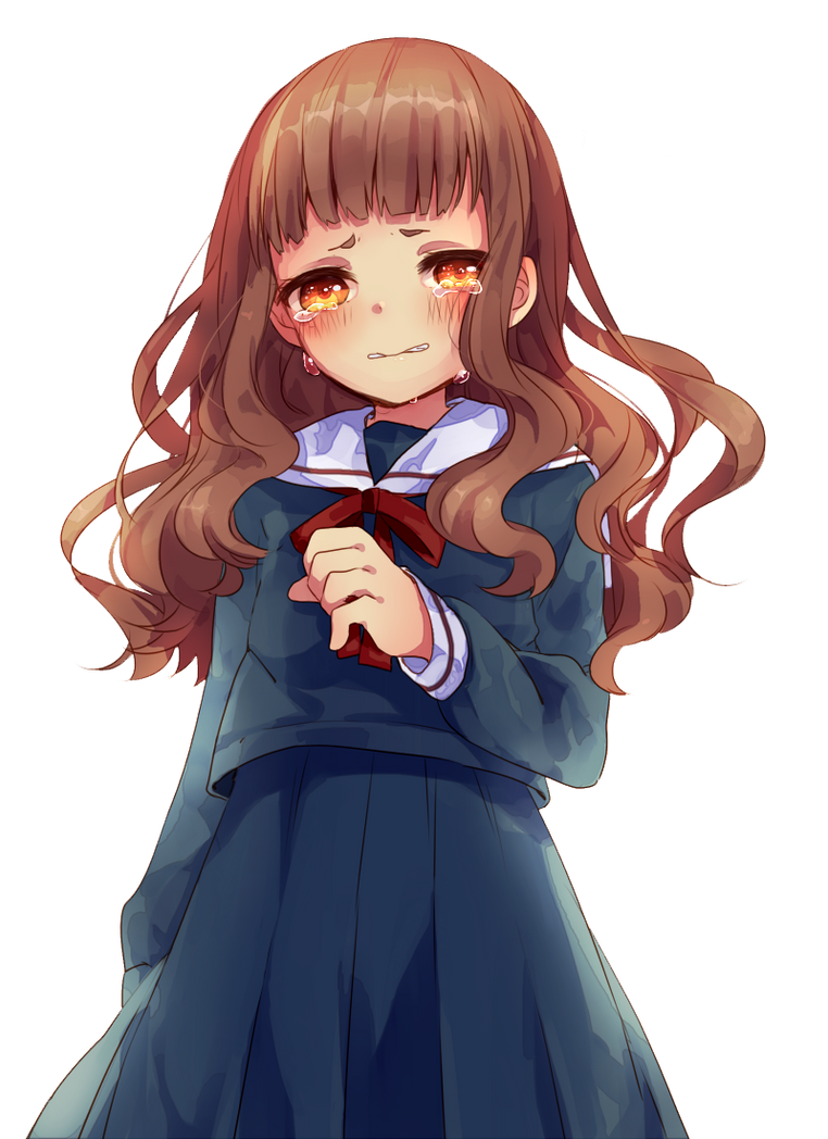 Cute Anime Girl Crying by Cupcakes-Renders on DeviantArt