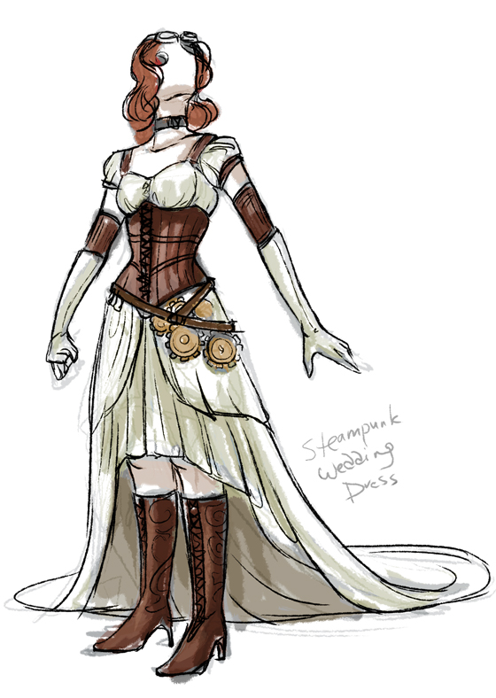 Steampunk Wedding Dress 001 by daestwen on DeviantArt