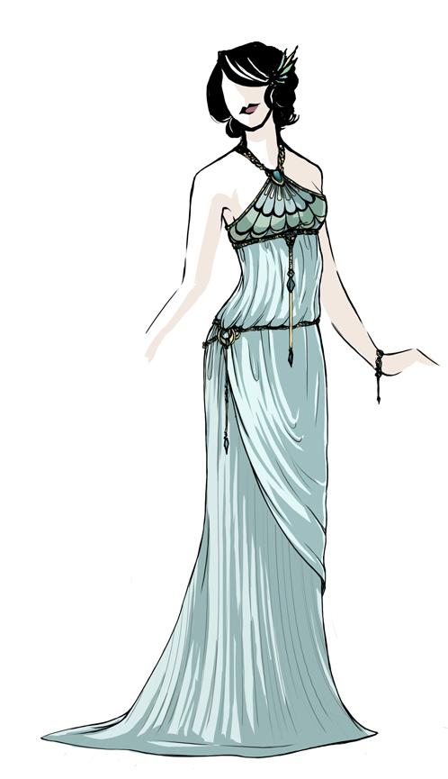 Greco-Nouveau Dress - Wedding by daestwen on DeviantArt
