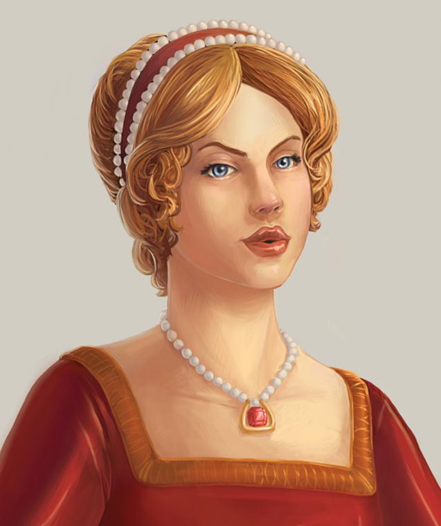 Portrait of a Tudor Woman by daestwen