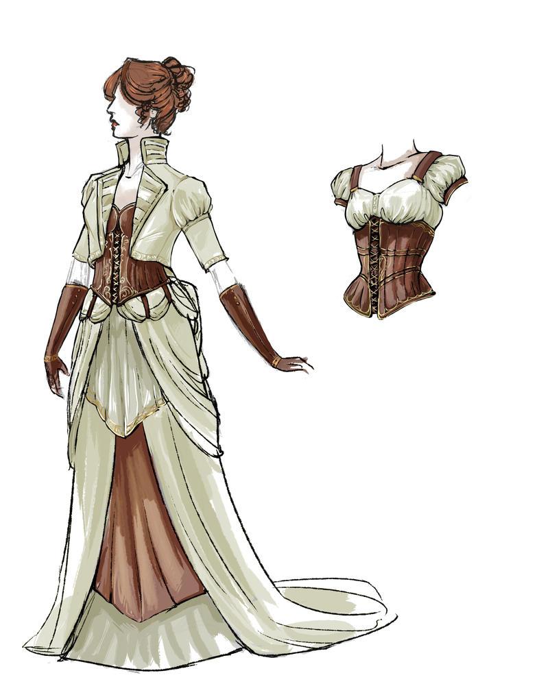 Steampunk Wedding Dress Revamp by daestwen on DeviantArt
