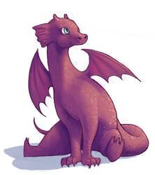 Percival the Purple Dragon by daestwen
