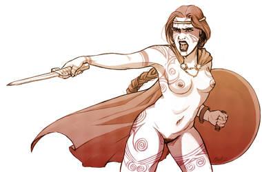 Barbarian Warrior by daestwen