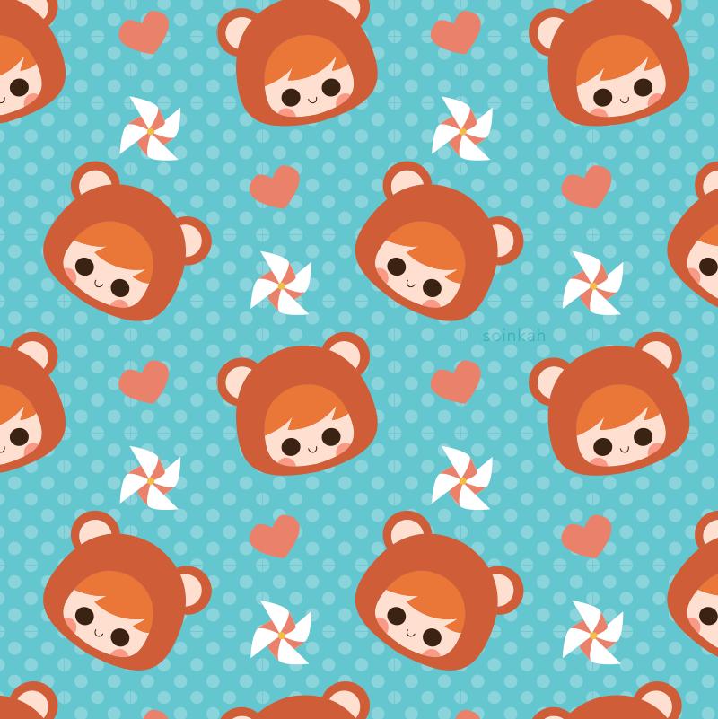 Teddy Friend Pattern by soinkah