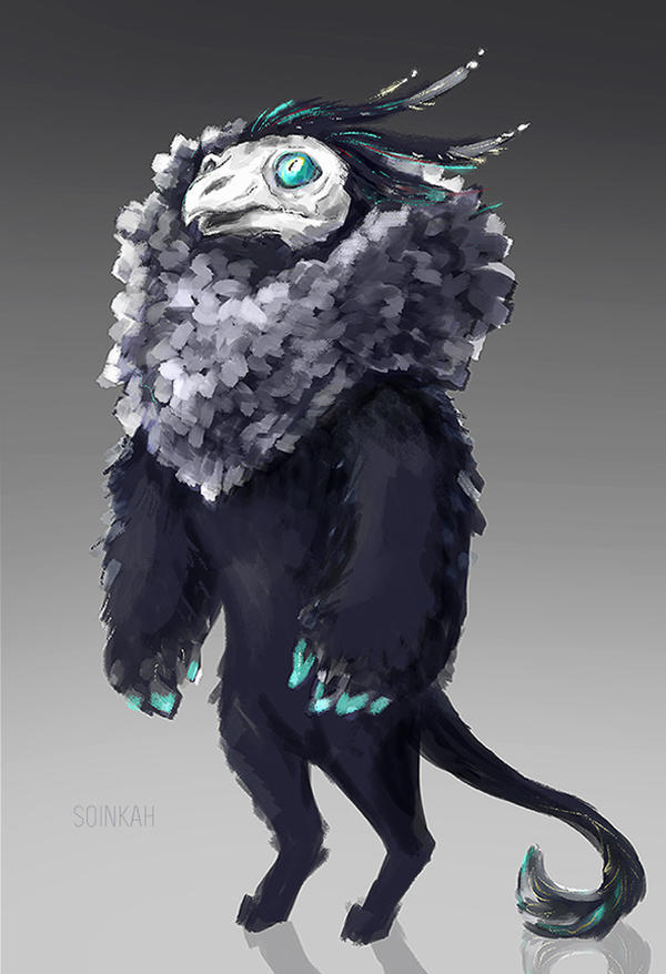 Bird Creature concept by soinkah