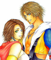 Tidus and Yuna by OmegaBooster