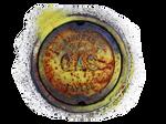 Metal GAS cap manhole texture