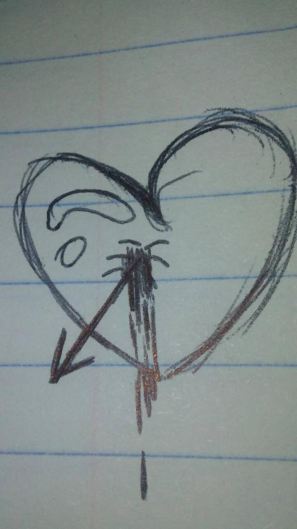 arrow through heart by kutekity on deviantart