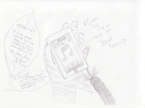 Even The Na'vi Have An iPod by CarmenDrawings