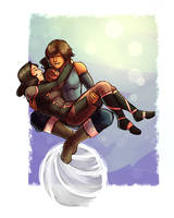 commission -- korrasami by Raven-igma