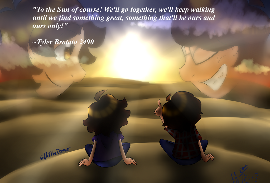 To the Sun w/ Quote by CATtheDrawer
