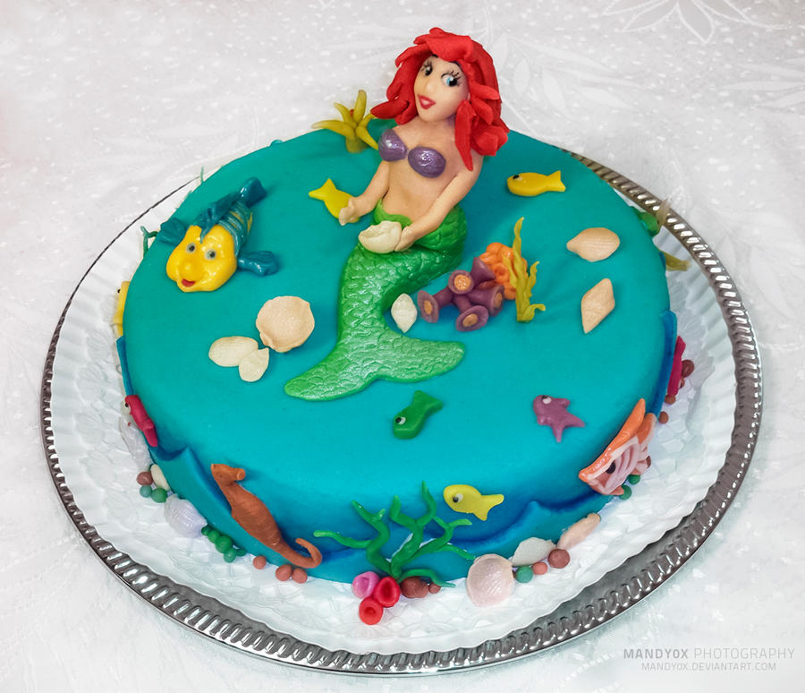 Mermaid cake by mandy0x on deviantart for Art cake decoration