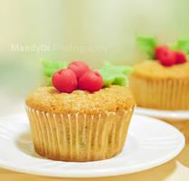 Xmas nut cupcake by Mandy0x