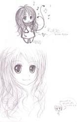 Katie chibi style -sketch