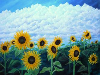 Sunflowers study by seence-art