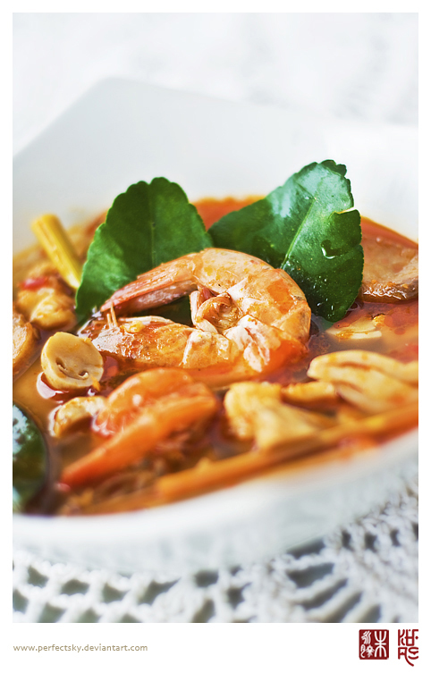Tom Yum Soup with Shrimp by perfectSky