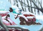 Winter Falls by ArtOfEdge