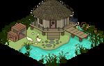 Pixel Art Town - Tranquil Hut